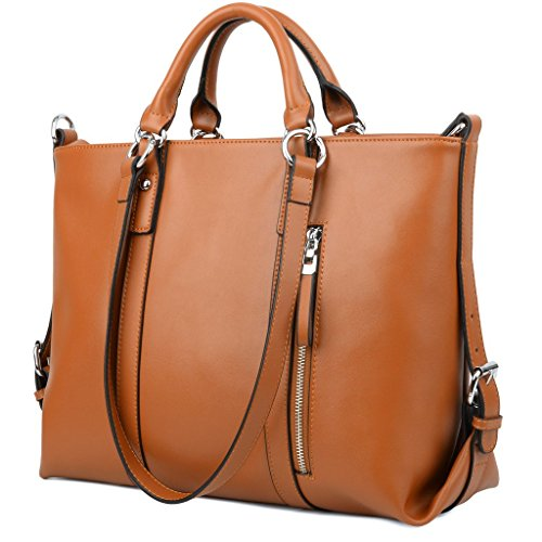 16df6aa27c ... YALUXE Women s Urban Style 3-Way Leather Work Tote Shoulder Bag. Keep  your credit cards
