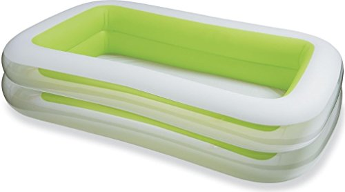 Intex swim center family inflatable pool 103 x 69 x 22 for ages 6 lemydaby for Intex swim center family pool cover