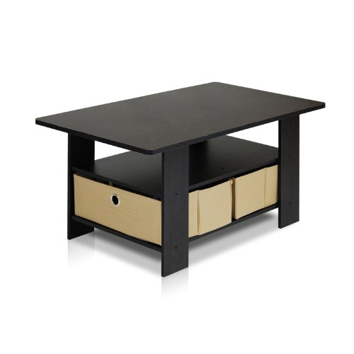 Furinno 11158ex Br Coffee Table With Bins