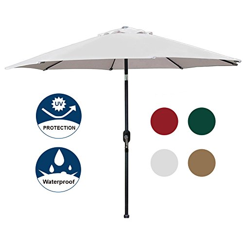 Umbrella Base. Match With A Minimum 40lb. Its Colorful, Waterproof  Polyester Fabric Provides Ten Feet Of Sun Protection, Easily Shading A  Table And Chairs.