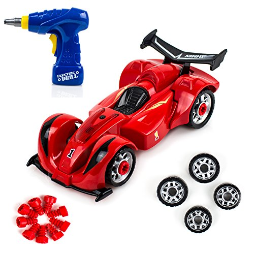35 Piece Take Apart Modification Toy Car with Drill – Build