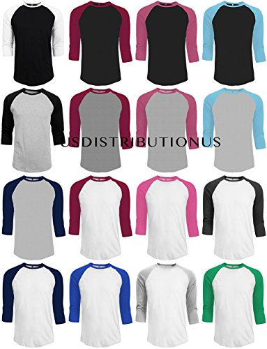 e2dc011177eb3b Great for comfortable casual wear. Unisex tri-blend 3/4 sleeve raglan tee.  Semi-fitted. Side seam construction. Contrast color set-in collar and 3/4  length ...