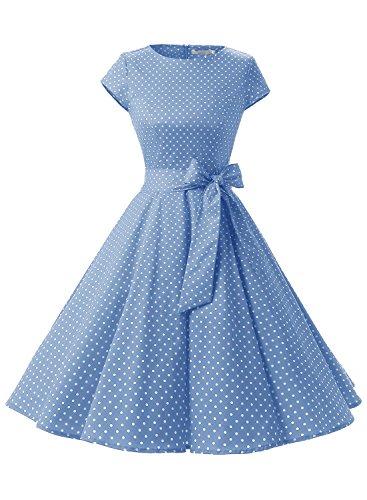 f63875df57735 Dressystar Women Vintage 1950s Retro Rockabilly Prom Dresses Cap-Sleeve