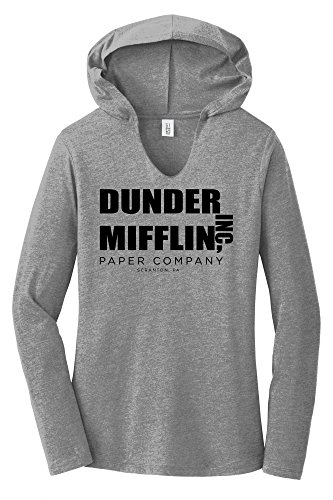 3d6c80066 Comical Shirt Ladies Dunder Mifflin Paper Company Funny TV Show Hoodie Shirt.  Schrute farms beets ...