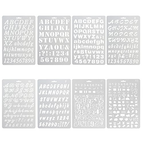 these stencils are reusable and washable easy and clean and use the stencils for painting include both uppercase and lowercase alphabet and numbers
