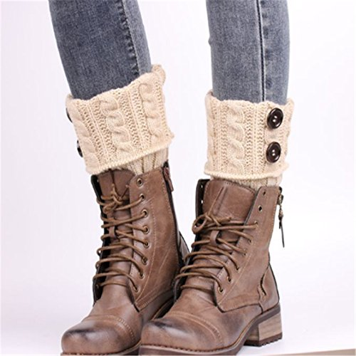 bbf571a46 ... Womens Knit Twist Buttons Boot Socks. Package content  1X Crochet Hat.  We ve taken the ultra-comfort of your favorite basic teen leg warmers and  topped ...