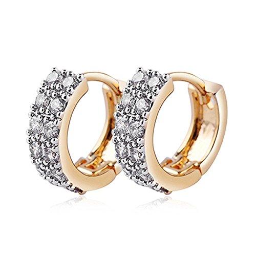 7203521337a8d Shoopic Stainless Steel Cubic Zirconia Hinged Hoop Earrings for Men ...